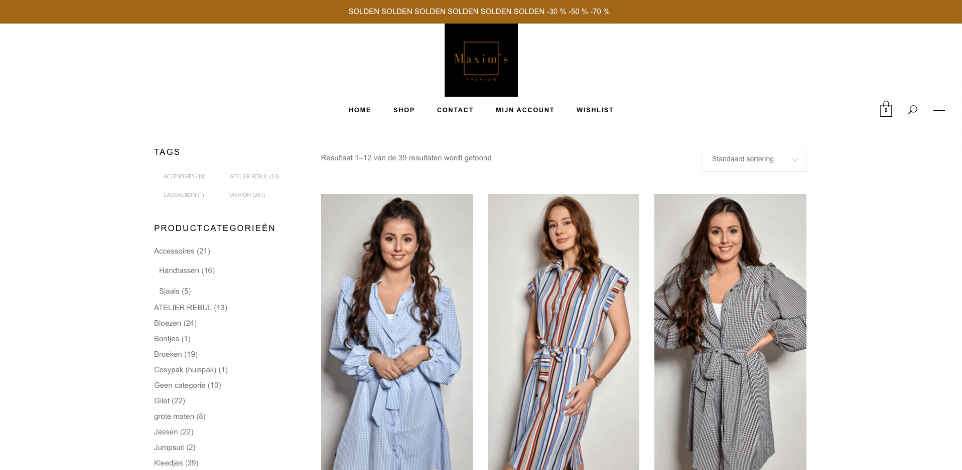 Maxims fashion webshop laten maken